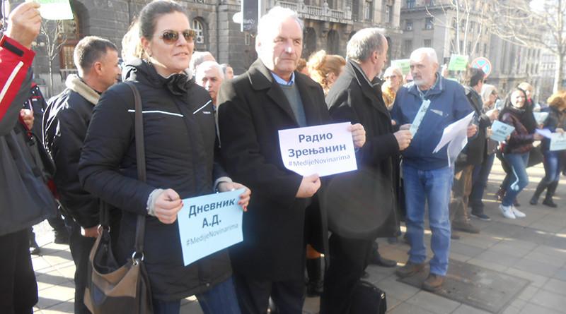 Kolega Bozidar Drinic na protestu