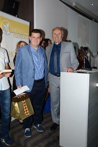 f 1 2016 Bela Fodor ucenik generacije sa direktrom Milinkom Babicem