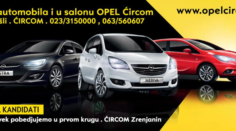 "Sajam automobila u Beogradu i u Salonu ""Opel Ćirkom"""