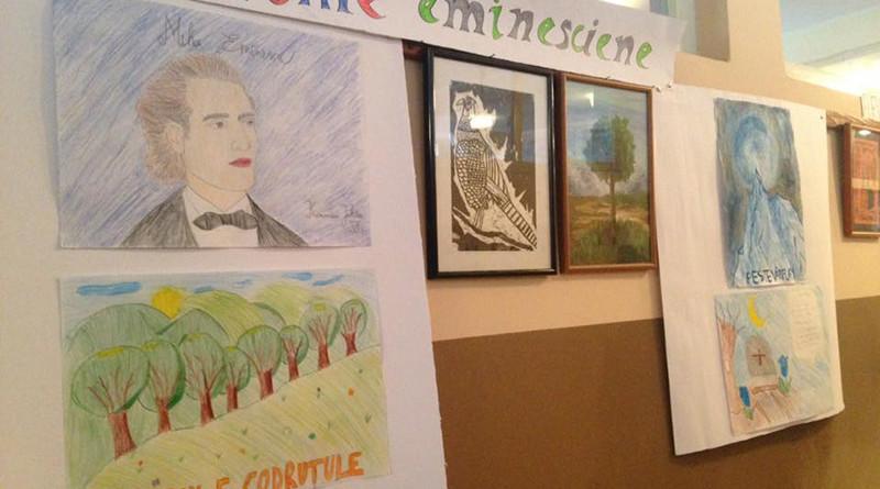 expozitie ded desene pe teme eminesciene ale elevilor Uzdin (1)