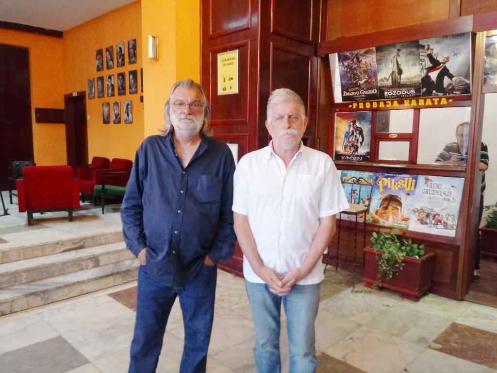 Petar Peca Popović i reditelj Milan Nikodijević