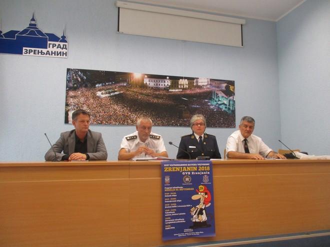 """VATROGASNA MANIFESTACIJA VOJVODINE U SKLOPU """"DANA PIVA"""": Dobrovoljni vatrogasci u Zrenjaninu"""
