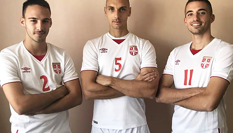 46 - 2 Fudbal reprezentacija Grbic, Jovanov i Matic