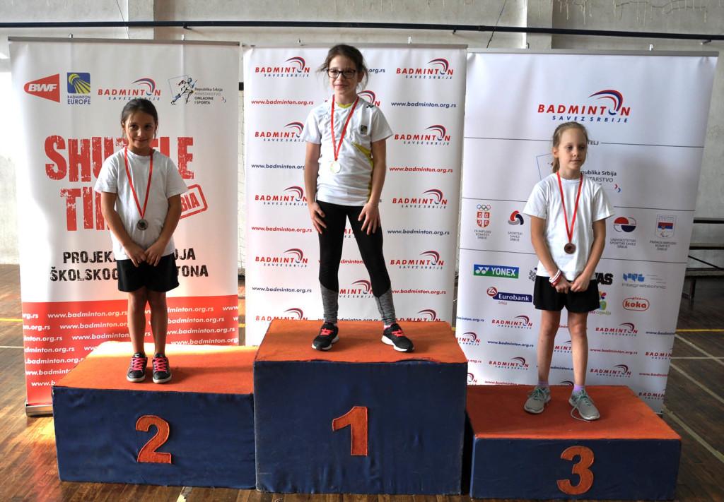 badminton Mina Kovač - 1 mesto-1