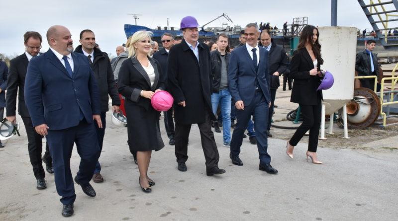 """MINISTARKA ZORANA MIHAJLOVIĆ U ZRENJANINU: Nastavak gradnje obilaznice i otvaranje brodogradilišta """"Rubikon"""""""