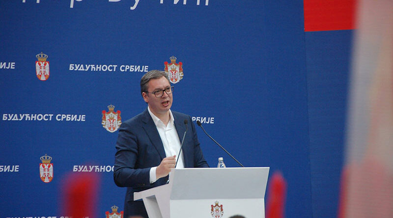 """PREDSEDNIK ALEKSANDAR VUČIĆ U POSETI SREDNJOBANATSKOM OKRUGU – """"BUDUĆNOST SRBIJE"""" U ZRENJANINU"""
