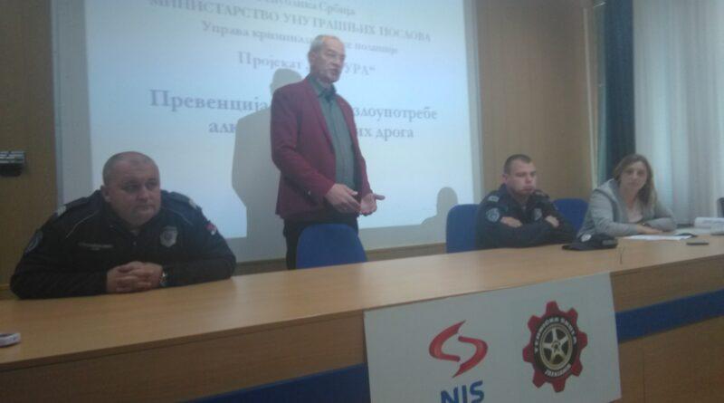 """POLICIJA ODRŽALA PREDAVANJE U TEHNIČKOJ ŠKOLI: Projekat """"Matura 2019 """""""