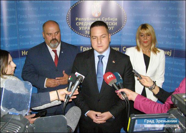 BRANKO RUŽIĆ U POSETI ZRENjANINU:Ministar istakao odličnu saradnju sa Gradom