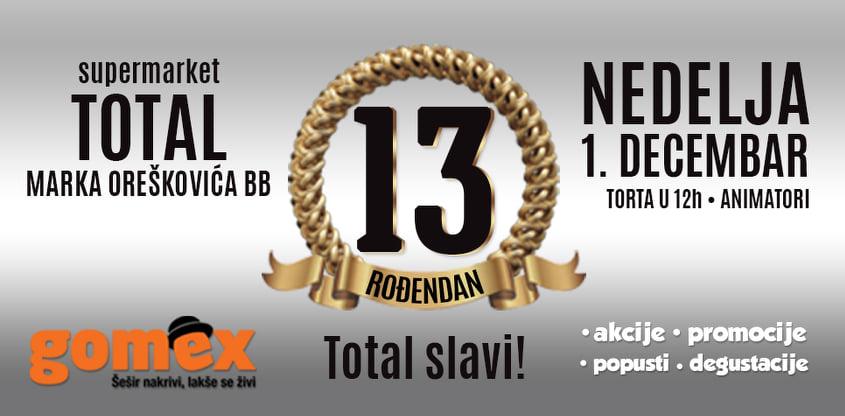 """""""GOMEX TOTAL"""" SLAVI 13. ROĐENDAN: Proslava uz rođendansku tortu"""